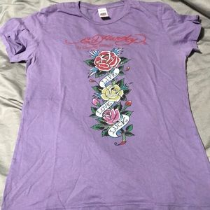 Ed Hardy Life Love Luck Shirt